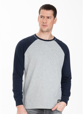 Longsleeve Garment Washed Raglan Small Logo 0
