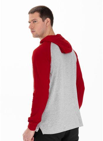 Longsleeve z kapturem Garment Washed Raglan Small Logo